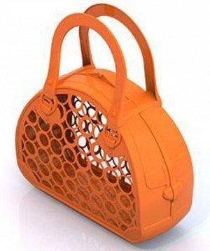 Сумка-корзинка (оранжевая) 28*25*9см  тм Нордпласт