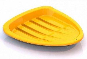 Салазки детские желтые 43*37см   тм Нордпласт