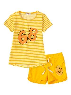 """Комплекты для девочек """"Number 68 yellow"""", цвет Желтый"""