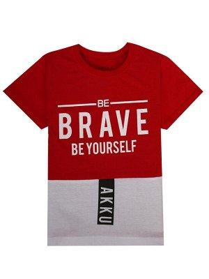 """Футболки для мальчиков """"Brave red"""", цвет Красный"""
