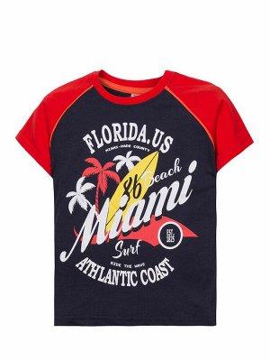 """Футболки для мальчиков """"Florida.US"""", цвет Красно-синий"""