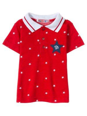 """Поло для мальчиков """"Red stars"""", цвет Красный"""