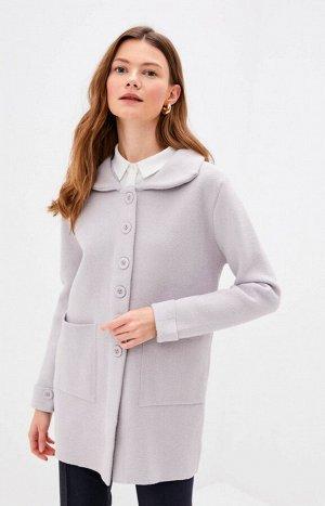 Пальто 8R147св. серый