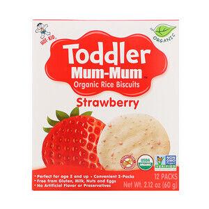 Hot Kid, Печенье с органическим рисом Toddler Mum-Mum, 12 упаковок, 60 г