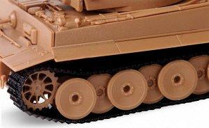 Танк тигр Сборная модель ZVEZDA. 63 детали  Размер собранной модели 11 см  Самый известный танк Второй мировой войны. Данная модификация, появившаяся в 1943 году, имеет измененную башню, за счет этого