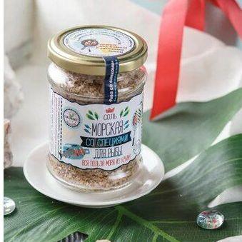💥Крымская 100% морская розовая соль со специями — Крымская соль — Сахар и соль