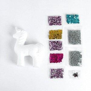Аппликация пайетками «Волшебный единорог» + 4 цвета пайеток