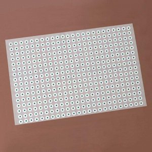 Аппликатор - коврик, 50 ? 75 см, 384 модуля, цвет белый/зелёный