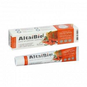 Зубная паста AltaiBio для ежедневного ухода за зубами и деснами облепиха прополис, 75 мл