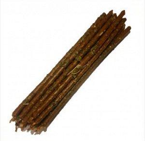 Свеча коричневая часовая Подношение духам с травами