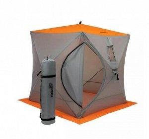 Палатка зимняя Helios Куб (1,8м х 1,8м, Orange lumi/Gray)