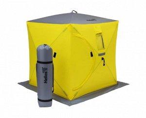 Палатка зимняя Helios Куб (1,8м х 1,8м, Yellow/Gray)