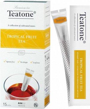 Чай Черный Аромат тропических фруктов TEATONE 15стик*1.8г