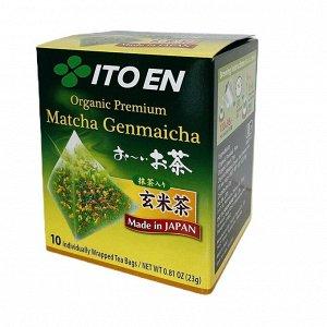 ITOEN Matcha Organic Органический премиум чай Матча с обжаренным рисом 18 гр.1*10 шт. Арт-98887
