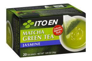 ITOEN Чай, MATCHA GREEN TEA , зеленый чай с жасмином 20 пак, 30 гр.1*8 шт. Арт-11725