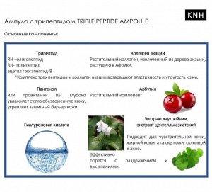 Антивозрастная пептидная сыворотка для лица «KNH»