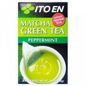 ITOEN Чай, MATCHA GREEN TEA , зеленый чай с перечной мятой 20 пак, 30 гр.1*8 шт. Арт-11749