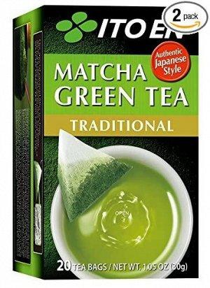 ITOEN Чай, MATCHA GREEN TEA , зеленый чай традиционный 20 пак, 30 гр.1*8 шт. Арт-11701