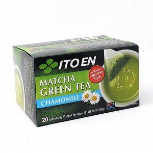 ITOEN Чай, MATCHA GREEN TEA , зеленый чай, с ромашкой 20 пак, 30 гр.1*8 шт. Арт-12302