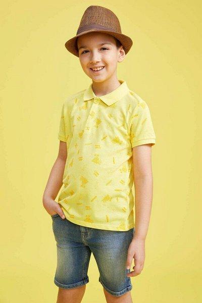 DEFACTO - детская коллекция.Распродажа в каждой коллекции    — Мальчики 3-14лет футболки-поло — Футболки
