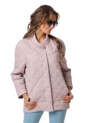 Куртка серо-розовый