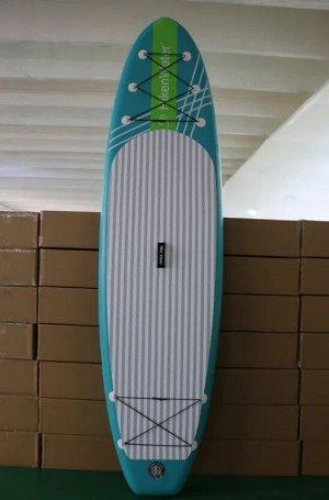 Sup ОПИСАНИЕ: Цвет - мятный/бирюза модель - Hiken Water 10,6 размер - 320*80*15 Грузоподьемность - 140 кг ( не верьте, когда говорят, что доска длиной 300-320 см поднимает 180-200 кг, это маркетингова