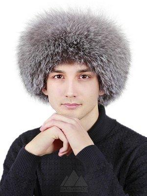 Шапка монголка мужская из лисы на кожеСтефан