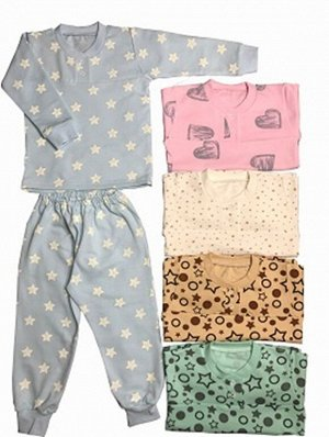 Пижама Материал: Футер. Цвет: Цвет в ассортименте Пижама