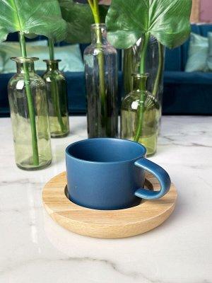 Чайная пара 200 мл, фарфор, бамбук, в наличии
