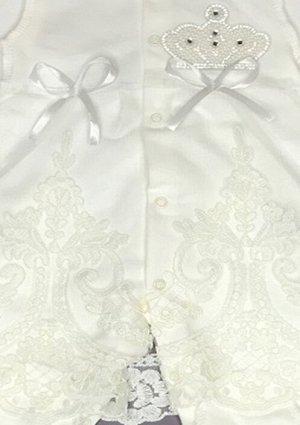 Комплект (комбинезон швы наружу, рукава с царапками, ободок). КРУЖЕВО-ЭКРЮ