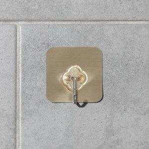 Крючок-наклейка «Классик», металл, цвет золотой 5412448