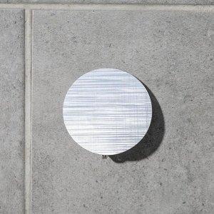 Крючок-наклйека «Классик», металл, цвет серебряный