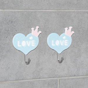 Набор крючков на липучке «Романтик», 2 шт, цвет и дизайн МИКС