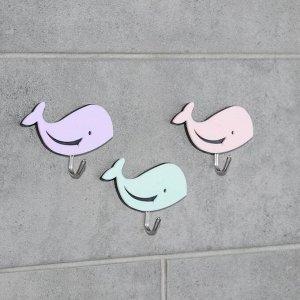 Набор крючков на липучке «Цветик», 3 шт, цвет и форма МИКС