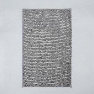 Коврик Доляна «Букли длинные», 49?75,5 см, цвет серый