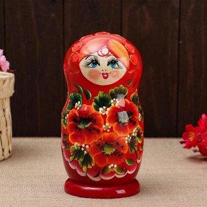 """Матрёшка 5-ти кукольная """"Ира"""" маки , 17-18см, ручная роспись."""