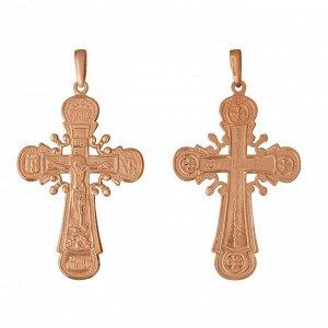 """Крест нательный """"Иисус Христос"""" позолота"""