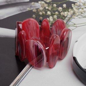 """Браслет пластик """"Этника"""" овалы, цвет красный, 5,5см"""