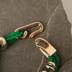 """Браслет ассорти """"Каникулы"""" цвет зелёный в золоте, L=20 см"""