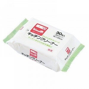 Влажные салфетки для уборки на кухне  30 шт