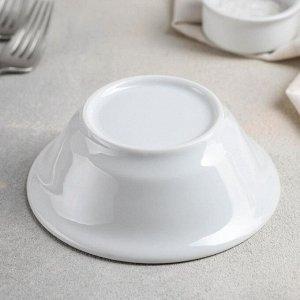 Салатник Добрушский фарфоровый завод «Идиллия», 360 мл, 14 см, цвет белый