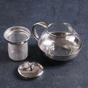 Чайник заварочный «Металлик», с металлическим ситом, 600 мл