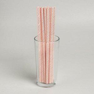 Трубочки для коктейля «Зигзаг», набор 12 шт., цвет бежевый