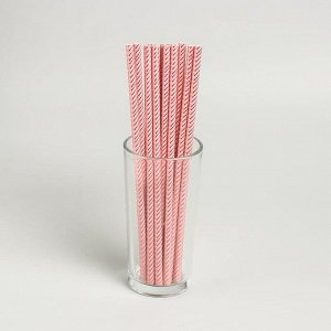 Трубочки для коктейля «Зигзаг», набор 12 шт., цвет персиковый