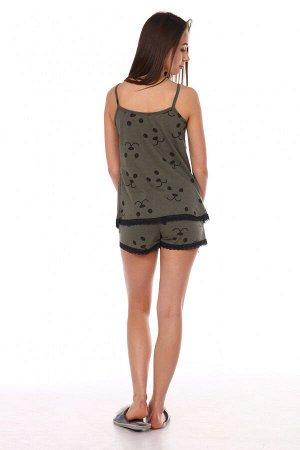 Пижама женская 1325 мордочки (шорты+майка)