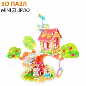 """3D пазл Mini Zilipoo """"Лесной домик 4"""""""