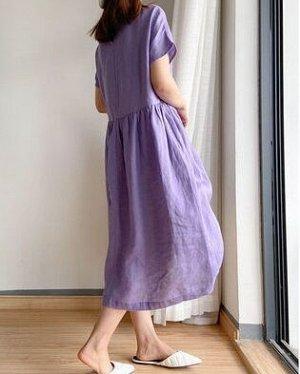 Базовое сиреневое  платье