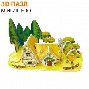 """3D пазл Mini Zilipoo """"Лесной домик"""""""