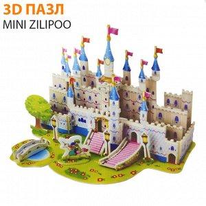 "3D пазл Mini Zilipoo ""Голубой алмазный замок"""