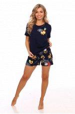 Пижама женская Экзотика(шорты) кулирка